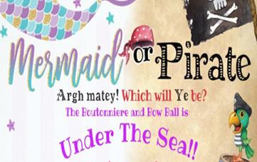 Marmaid or Pirate: Boutonniere and Bow Ball 2019